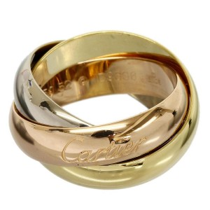 Cartier 18K Pink White And Yellow Gold Ring Size: 6.75