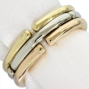 Bulgari 18K Pink White Yellow Gold Ring