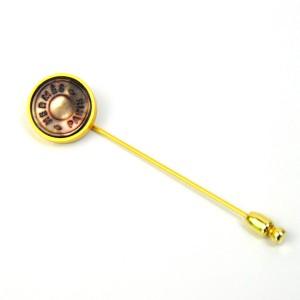 Hermes Gold Tone Brooch