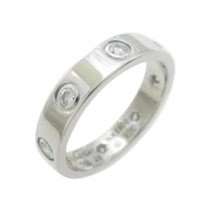 Cartier White Gold Mini Love Diamond Ring Size 4.75