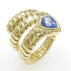 Bulgari 750 Yellow Gold Serpent Ring Size US 4.75 EU 49