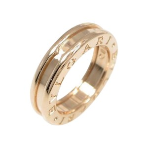 Bulgari B zero1 1 750 Pink Gold Band Ring Size EU 47 U.S. 4