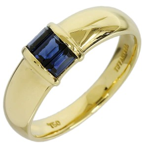 Tiffany And Co. 18K Yellow Gold Sapphire Ring