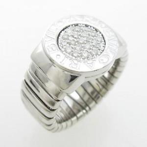 Bulgari 750 White Gold Ring Size 5.75