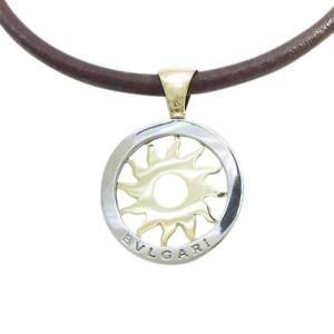 Bulgari 750 Yellow Gold And 925 Sterling Silver Tondo Sun Necklace