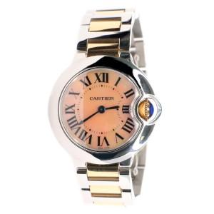Cartier Ballon Bleu 28MM 2-Tone Factory Pink MOP Roman Dial Watch