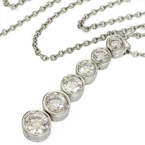 Tiffany & Co. Platinum Jazz Drop Dial Necklace
