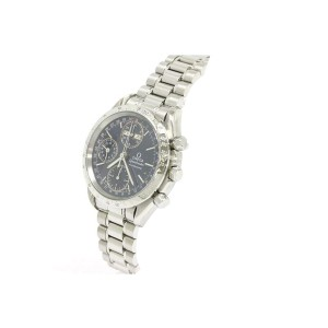 Omega Speedmaster Triple Date Stainless Steel Automatic Mens Watch