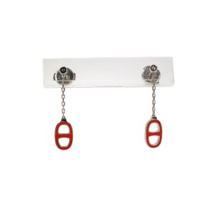HERMES Chaine D ancre Palladium Earrings