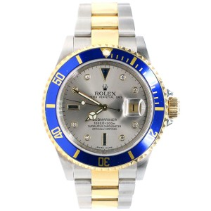 Rolex Submariner 40mm 2-Tone Yellow Gold/Steel Watch with Factory Diamond Dial 16613T