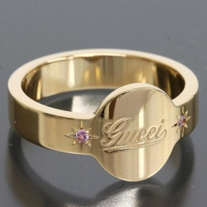Gucci 18K Pink Gold Icon Pink Sapphire Ring
