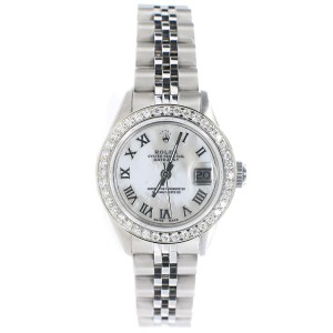 Rolex Datejust 26MM Steel Jubilee Watch with Custom Diamond Bezel