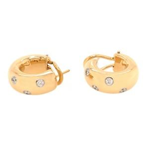 Tiffany and Co. Etoile Diamond Vintage Hoop Earrings