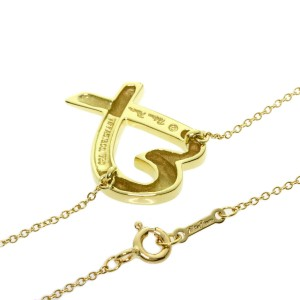 TIFFANY & Co. 18K Yellow Gold Loving heart Necklace