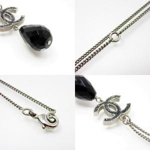 Chanel Silver Tone Metals Coco Necklace
