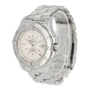 BREITLING Colt A17380 Date Silver Dial Automatic Men's Watch