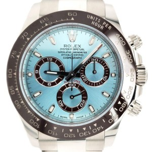Rolex Daytona UNWORN 40mm Platinum Ice Blue Dial 116506 Watch Box Papers 2019