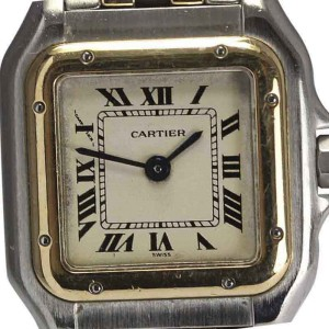 Cartier Stainless Steel & 18K Yellow Gold Quartz 21.5mm Womens Watch