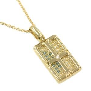 Southern diamond/yellow gold Cross Necklace