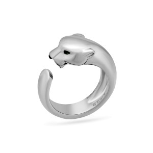 Cartier Panthere de Cartier Ring 18K White Gold Ring Size 8