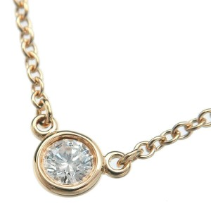 Tiffany&Co. 18K Yellow Gold By the Yard 1P Diamond Necklace TNN-952