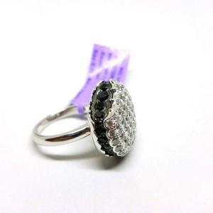 Boucheron White Large 18k Gold Macaron Black Sapphire Diamond Ring