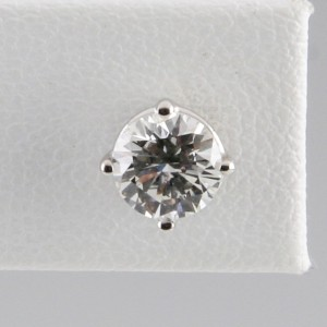14K White Gold with 1.20ct Round Diamond Stud Earrings