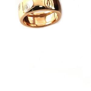 Cartier Logo de Cartier Band Ring 18K Rose Gold 6 - 52