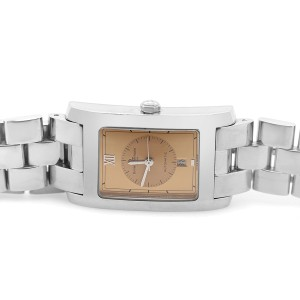 Baume & Mercier Hampton Stainless Steel Silver Quartz Unisex Gold Dial Watch