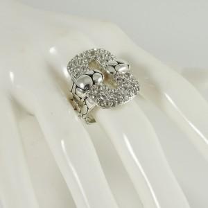 John Hardy Sterling Silver Large Kali White Sapphire Ring