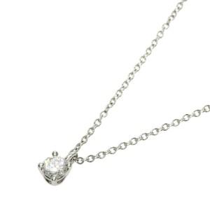 TIFFANY & Co. Diamond Platinum Solitaire Necklace