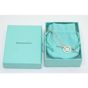 Tiffany & Co. Sterling Silver 1P Diamond Atlas Round Pendant Necklace
