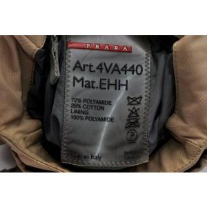 PRADA Nylon Shoulder Bag Beige