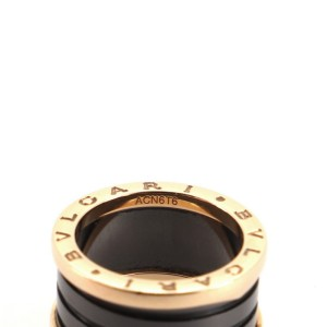 Bvlgari B.Zero1 Three Band Ring 18K Rose Gold and Ceramic