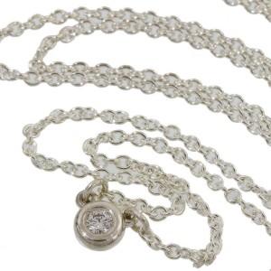 Tiffany & Co. 925 Silver Elsa Peretti Diamond by the Yard Pendant Necklace