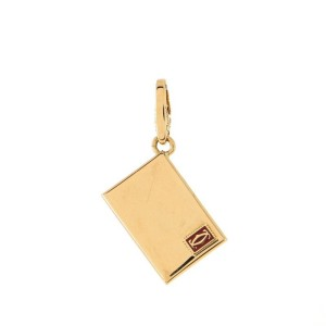 Cartier Envelope Pendant Necklace 18K Yellow Gold