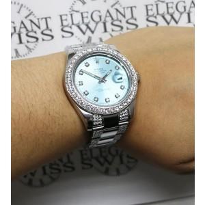 Rolex Datejust II 41MM Stainless Steel Automatic Mens Oyster Watch w/6.1Ct Diamond Dial, Bezel, & Bracelet 116300