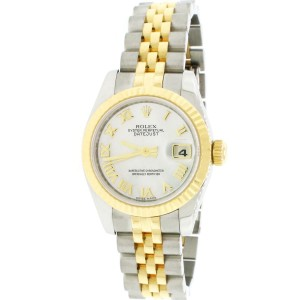 Rolex Datejust Ladies 26mm 2-Tone Factory MOP Dial Watch 179173