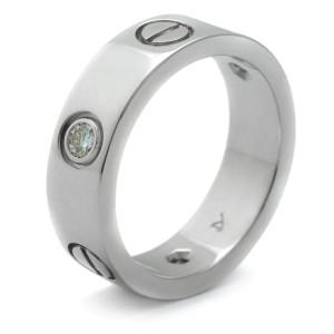 Cartier Love Ring 18K White Gold 3 Diamond Size 4.75