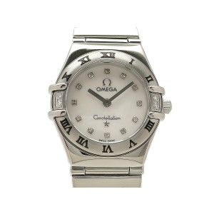 Omega Constellation Mini My Choice 1566-76 Stainless Steel 22mm Womens Watch