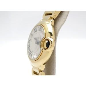 Cartier Ballon Bleu W69001Z2 18k Yellow Gold 28mm Womens Watch