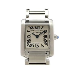 Cartier Tank Francaise W51008Q3 Stainless Steel 25mm x 20mm Womens Watch