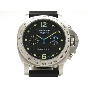 Panerai Luminor Regatta Automatic World Limited 500 PAM00308 Leather 44mm Mens Watch