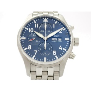IWC Pilotwatch Chronograph Petit Prince Limited IW377717 Stainless Steel 43mm Mens Watch