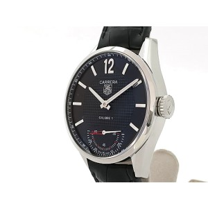 Tag Heuer Carrera Vintage Caliber1 World Limited 6000 WV3010.EB0025 Leather 43mm Mens Watch