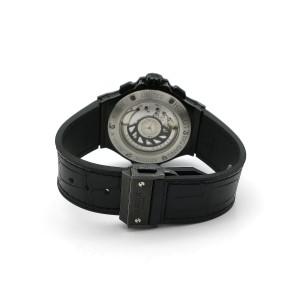 Hublot Big Bang Black Flow Pink World 341.SV.9090.PR.0933 Rubber/Leather 41mm Mens Watch
