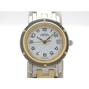 Hermes Clipper CL4.220 Gold Plated/Stainless Steel 23mm Womens Watch
