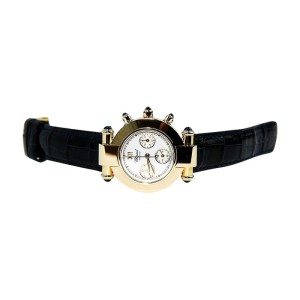 Chopard 18K Yellow Gold Chronograph Emperiale Sapphire Womens Watch