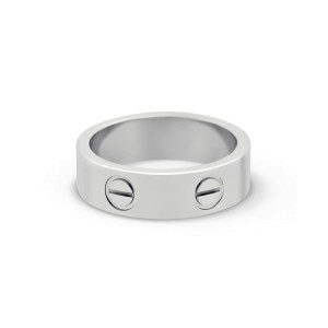 Cartier Love Ring 18K White Gold Size 5.25