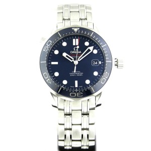 Omega Seamaster 300m 212.30.41.20.03.001 Blue Dial Stainless Steel Watch